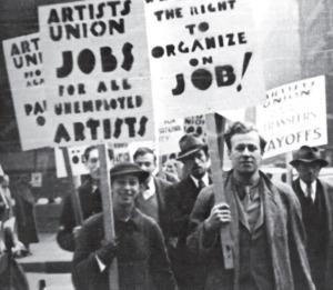 """L'Atelier popolare, """"La polizia fa mostra di sé alla scuola delle belle arti mentre gli studenti delle belle arti manifestano nelle strade"""", 1968."""
