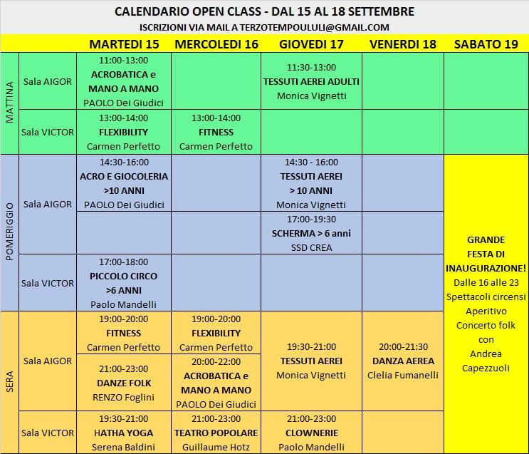 open class programma